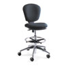 """Metro Collection Extended-Height Chair, Supports Up to 250 lb, 23"""" to 33"""" Seat Height, Black Seat/Back, Chrome Base"""