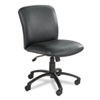 Safco® Uber Series Big & Tall Swivel/Tilt Mid Back Chair, Vinyl, Black SAF3491BV