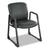 Safco® Uber Series Big & Tall Sled Base Guest Chair, Vinyl, Black SAF3492BV