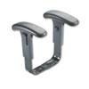 Safco Adjustable T-Pad Arm Kit - Black - 2 / Set SAF3499