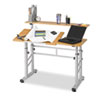 Safco Height-Adjustable Split Level Drafting Table - Rectangle Top - Steel, Wood SAF3965MO