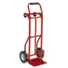 Safco® Two-Way Convertible Hand Truck, 500-600lb Capacity, 18w x 51h, Red SAF4086R