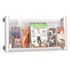 Safco® Luxe Magazine Rack, Three Compartments, 31-3/4w x 5d x 15-1/4h, Clear/Silver SAF4133SL