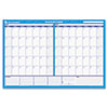 AT-A-GLANCE® 30/60-Day Undated Horizontal Erasable Wall Planner, 48 x 32, White/Blue, AAGPM33328