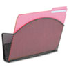 <strong>Safco®</strong><br />Onyx Magnetic Mesh Panel Accessories, Single File Pocket, Black