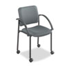 "Safco Moto Stack Chair - Polyester Gray Seat - Steel Black Frame - Charcoal Gray - 17.50"" Seat Width SAF4184CH"
