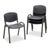 Safco® Stacking Chairs, Black w/Black Frame, 4/Carton - 4185BL