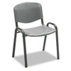 Safco® Stacking Chairs, Charcoal w/Black Frame, 4/Carton - 4185CH