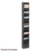 Safco® Steel Magazine Rack, 23 Compartments, 10w x 4d x 65-1/2h, Black SAF4322BL