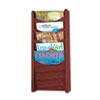 Safco® Solid Wood Wall-Mount Literature Display Rack, 11 1/4 x 3 3/4 x 23 3/4, Mahogany SAF4330MH