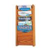 Safco® Solid Wood Wall-Mount Literature Display Rack, 11 1/4 x 3 3/4 x 23 3/4, Med. Oak SAF4330MO