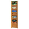 Safco® Solid Wood Wall-Mount Literature Display Rack, 11-1/4 x 3-3/4 x 48, Medium Oak SAF4331MO