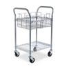 Safco® Wire Mail Cart, 600-lb Cap, 18-3/4w x 26-3/4d x 38-1/2h, Metallic Gray SAF5235GR