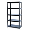 Boltless Steel Shelving, Five-Shelf, 36w x 18d x 72h, Black