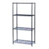 Safco® Commercial Wire Shelving, Four-Shelf, 36w x 18d x 72h, Black SAF5276BL