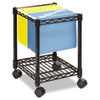 <strong>Safco®</strong><br />Compact Mobile Wire File Cart, One-Shelf, 15.5w x 14d x 19.75h, Black