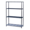 Industrial Wire Shelving Starter Kit, Four-Shelf, 48w x 18d x 72h, Black