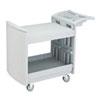 Safco® Utility Cart, Two-Shelf, 45w x 23d x 37-1/4h, Light Gray SAF5330GR