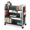 Scoot Book Cart, Six-Shelf, 41.25w x 17.75d x 41.25h, Black