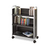Scoot Book Cart, Three-Shelf, 33w x 14.25d x 44.25h, Black