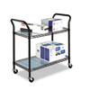 Safco® Wire Utility Cart, Two-Shelf, 43-3/4w x 19-1/4d x 40-1/2h, Black SAF5337BL