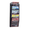 Safco® Onyx Mesh Literature Rack, Five Compartments, 10-1/4w x 3-1/2d x 28-1/3h, Black SAF5578BL