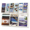 Reveal Clear Literature Displays, Nine Compartments, 30w x 2d x 22-1/2h, Clear