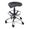 """Safco® Sit-Star Stool with Footring & Caster, 27""""-36h Seat, Black/Chrome SAF6660BL"""