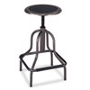 Safco® Diesel Series Backless Industrial Stool, High Base, Pewter Leather Seat - 6665