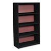 Safco® Value Mate Series Metal Bookcase, Four-Shelf, 31-3/4w x 13-1/2d x 54h, Black SAF7172BL