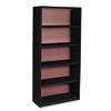 Value Mate Series Metal Bookcase, Five-Shelf, 31-3/4w x 13-1/2d x 67h, Black