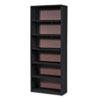 Safco® Value Mate Series Metal Bookcase, Six-Shelf, 31-3/4w x 13-1/2d x 80h, Black SAF7174BL