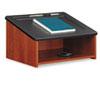 Safco® Tabletop Lectern, 24w x 20d x 13-1/2h, Cherry/Black SAF8916CY