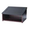 Safco® Tabletop Lectern, 24w x 20d x 13-1/2h, Mahogany/Black SAF8916MH