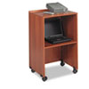 Safco® Lectern Base/Media Cart, 21-1/4w x 17-1/2d x 33-3/4h, Cherry SAF8917CY