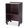 Safco® Lectern Base/Media Cart, 21-1/4w x 17-1/2d x 33-3/4h, Mahogany SAF8917MH