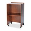 "Safco Projector Stand - 33.8"" Height x 21.3"" Width x 17.5"" Depth - Laminate - Wood - Medium Oak SAF8917MO"