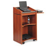 Safco® Executive Mobile Lectern, 25-1/4w x 19-3/4d x 46h, Cherry SAF8918CY