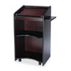 Safco® Executive Mobile Lectern, 25-1/4w x 19-3/4d x 46h, Mahogany SAF8918MH