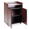 Safco® Executive Mobile Presentation Stand, 29-1/2w x 20-1/2d x 40-3/4h, Mahogany SAF8919MH