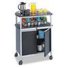 Mobile Beverage Cart, 33.5w x 21.75d x 43h, Black