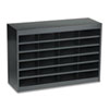 Steel/Fiberboard E-Z Stor Sorter, 24 Sections, 37 1/2 x 12 3/4 x 25 3/4, Black