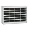 Steel/Fiberboard E-Z Stor Sorter, 24 Sections, 37 1/2 x 12 3/4 x 25 3/4, Gray