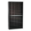 Steel/Fiberboard E-Z Stor Sorter, 72 Sections, 37 1/2 x 12 3/4 x 71, Black