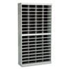 Steel/Fiberboard E-Z Stor Sorter, 72 Sections, 37 1/2 x 12 3/4 x 71, Gray