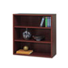 Safco® Après Open Bookcase, Three-Shelf, 29-3/4w x 11-3/4d x 29-3/4h, Mahogany SAF9440MH