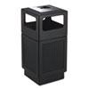 Safco® Canmeleon Ash/Trash Receptacle, Square, Polyethylene, 38gal, Textured Black SAF9477BL
