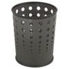 Safco® Bubble Wastebasket, Round, Steel, 6gal, Black SAF9740BL