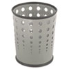 Safco® Bubble Wastebasket, Round, Steel, 6gal, Gray - 9740GR