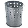 Safco® Bubble Wastebasket, Round, Steel, 6gal, Black Speckle - 9740NC